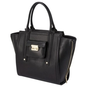 Black tote with gusset $54.99