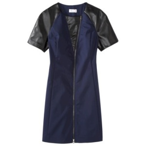 Faux leather navy dress $49.99