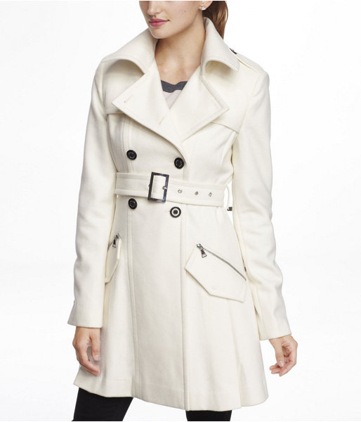 Wool Blend Trench Coat-Express